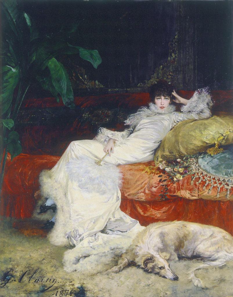 Portrait of Sarah Bernhardt by Georges Clairin, 1876