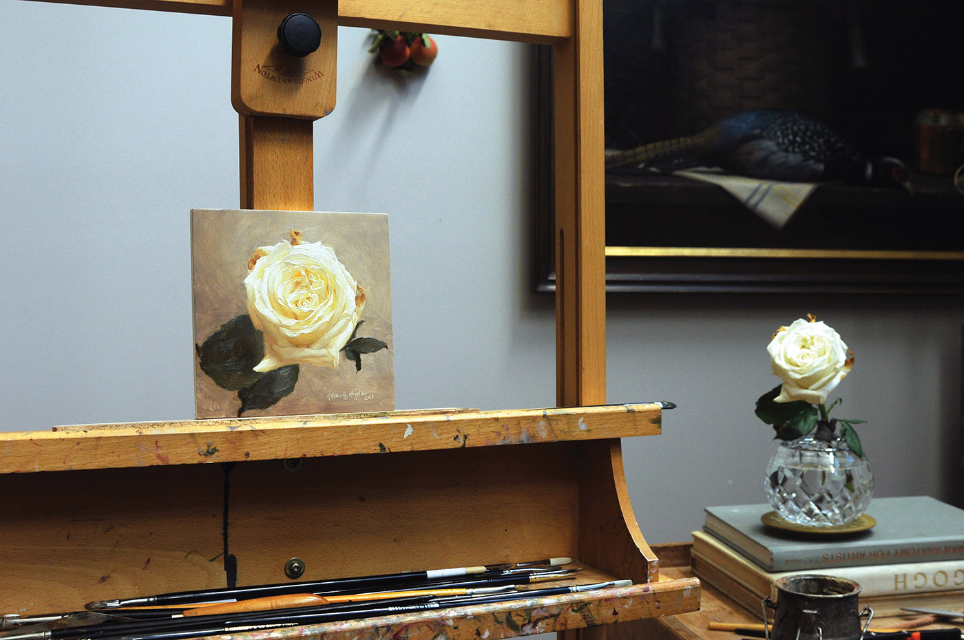 Katie Whipple How to Paint a Rose, final