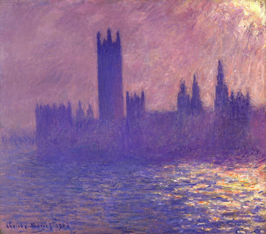 House of Parliament, Sunlight Effect by Claude Monet