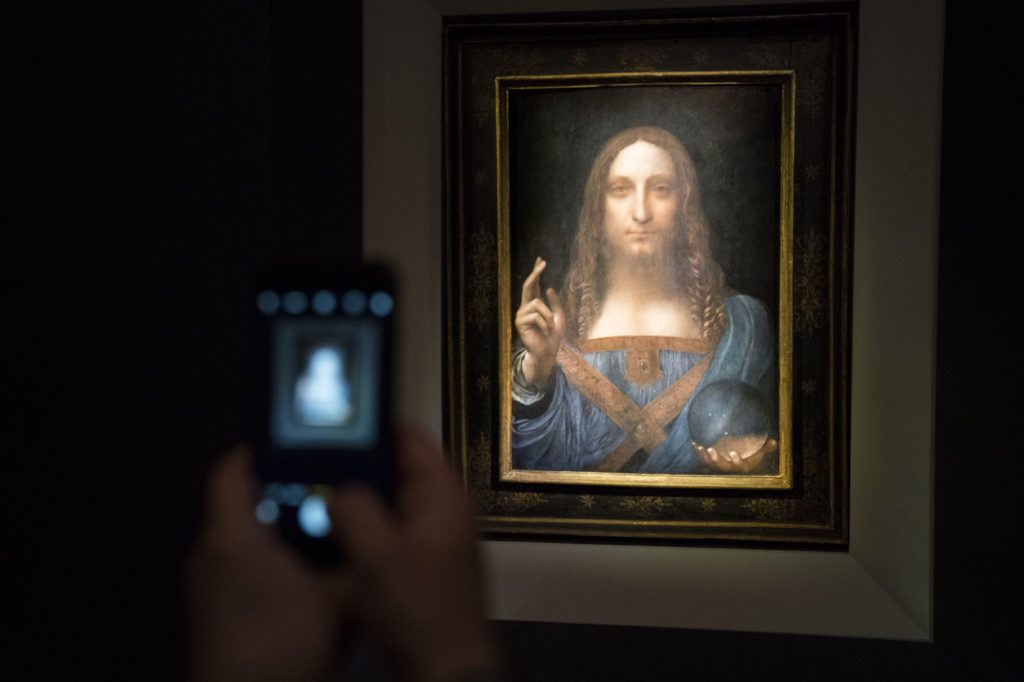 Salvator Mundi sold at auction in November 2017 for $450 million, the highest winning bid for any artwork in history.