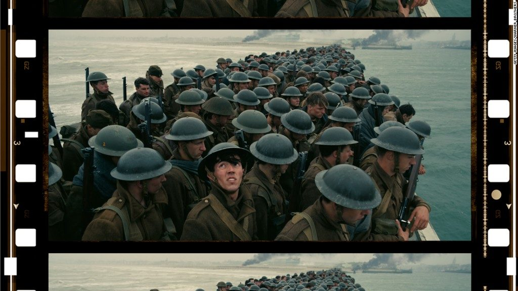 An image of the actual 70mm film that Dunkirk was recorded on.