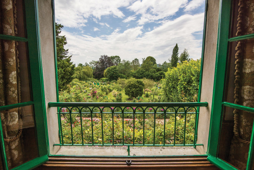 Monet's gardens as seen from his house.