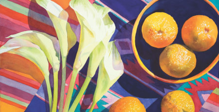 Bitter Oranges by Nava Grunfeld, watercolor on paper | Artists Network