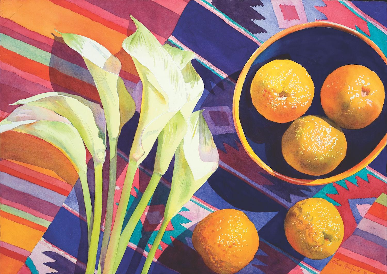 Bitter Oranges by Nava Grunfeld, watercolor on paper | Artists Network