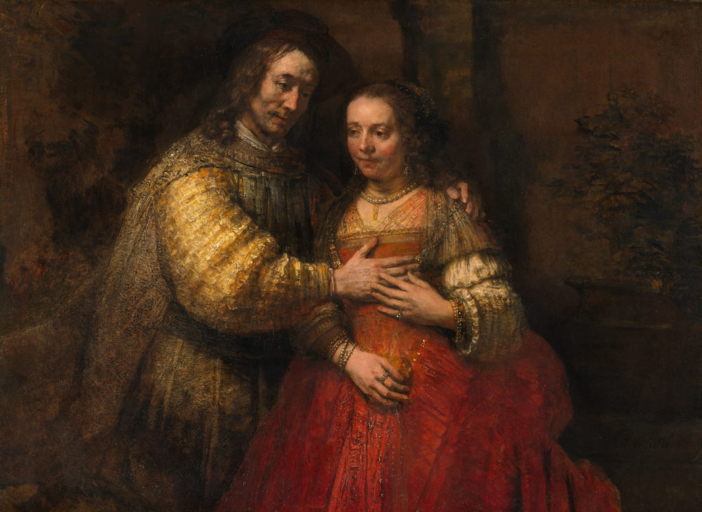 The Jewish Bride by Rembrandt van Rijn