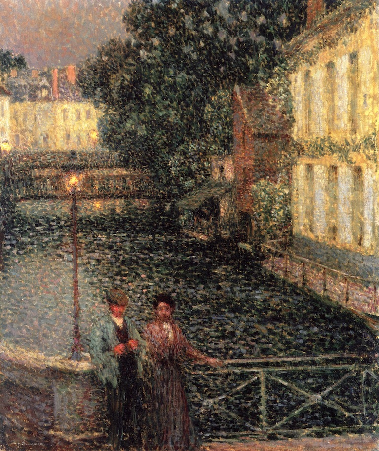 A Stroll on the Canal at Quimperle by Henri Le Sidaner