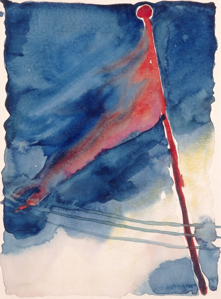 The Flag by Georgia O'Keeffe, 1918, watercolor