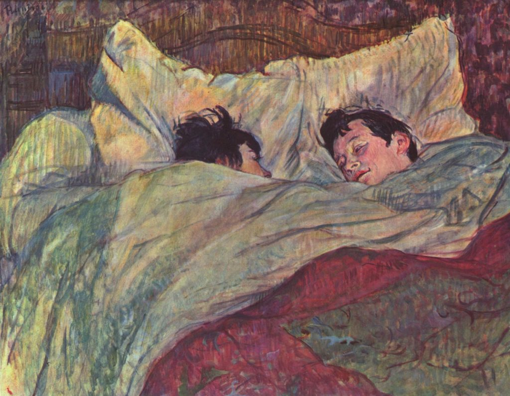 The Bed by Henri de Toulouse-Lautrec