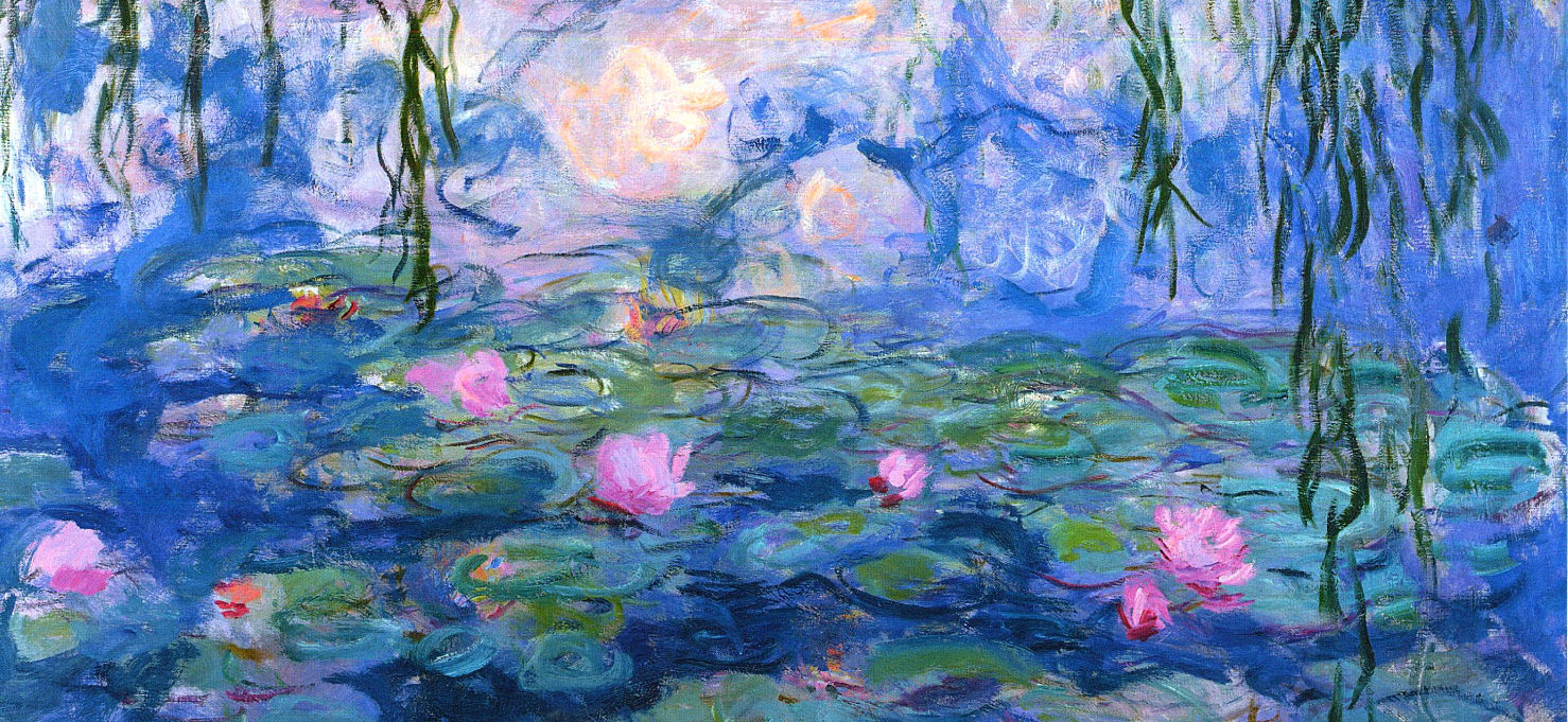 Monet at Giverny--Water Lilies