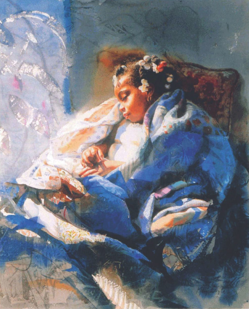 4. Lily Sleeping by Mary Whyte | 25 watermedia paintings by 25 top artists