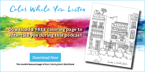 Self-Care, why care podcast, doodle coloring page