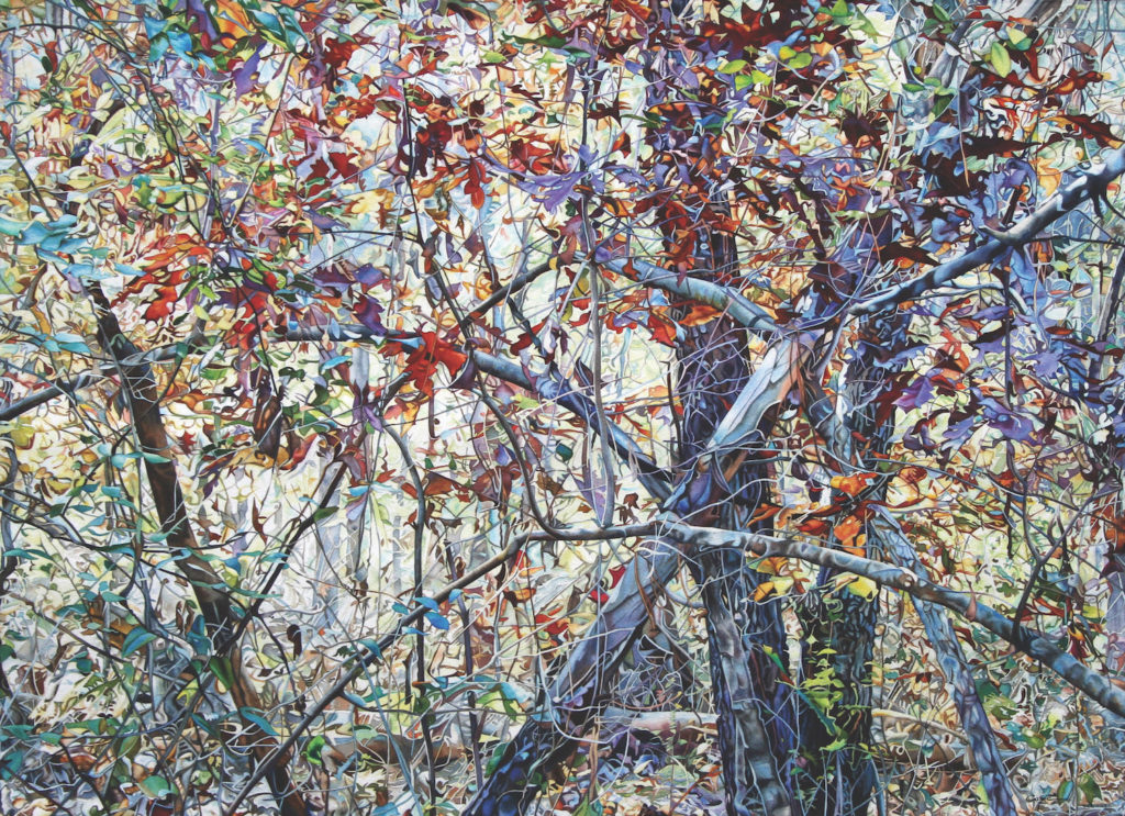 22. Bewitching Branches, Backwoods V by Christine Cozic   25 watercolor paintings by 25 top artists