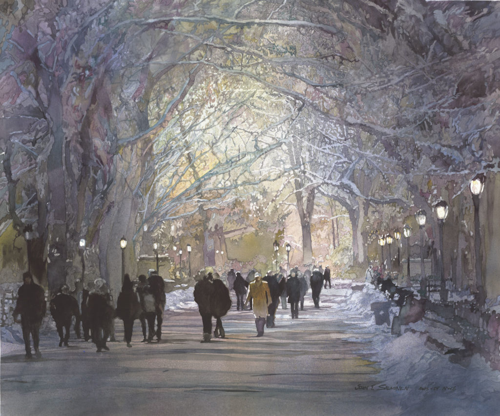 15. The Mall by John Salminen | 25 watermedia paintings by 25 top artists
