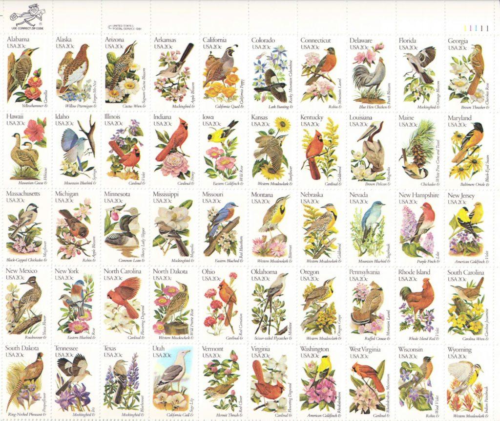 Stamp illustrations by Arthur Singer