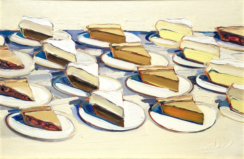 For Pi Day: Pies, Pies, Pies by Wayne Thiebaud, 1961
