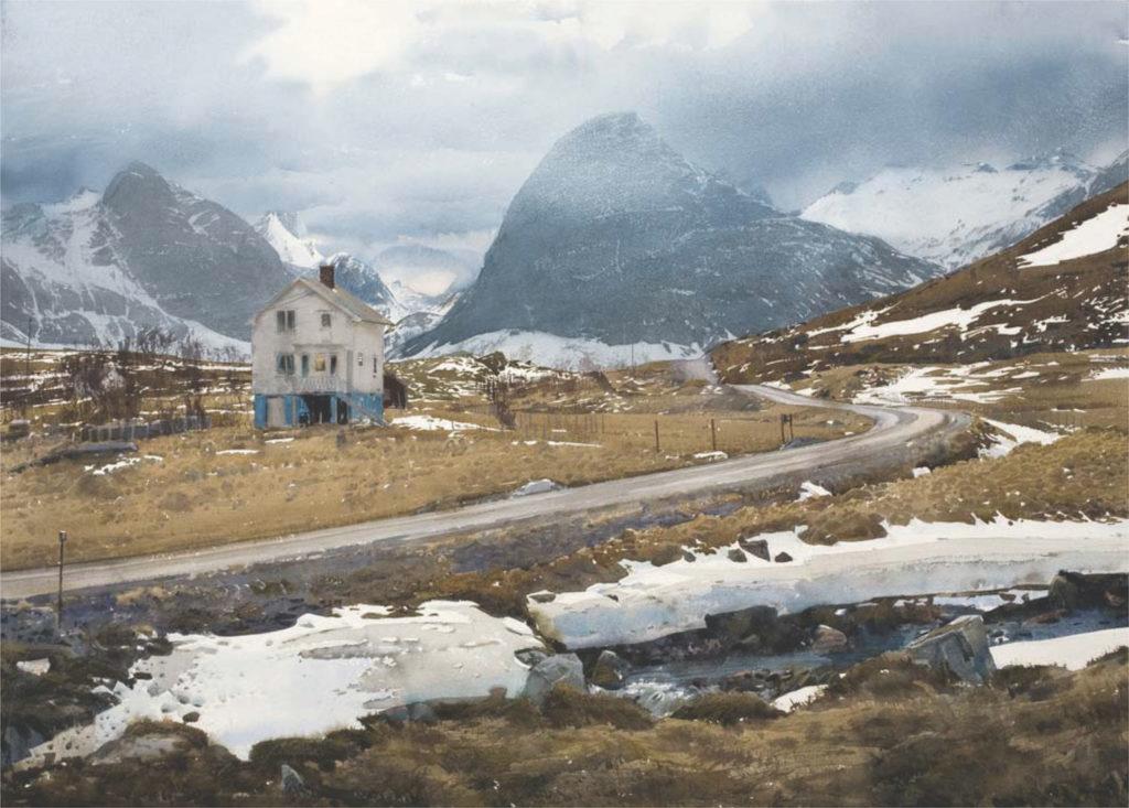 23. Fjord Dal by Stanislaw Zoladz   25 watermedia paintings by 25 top artists