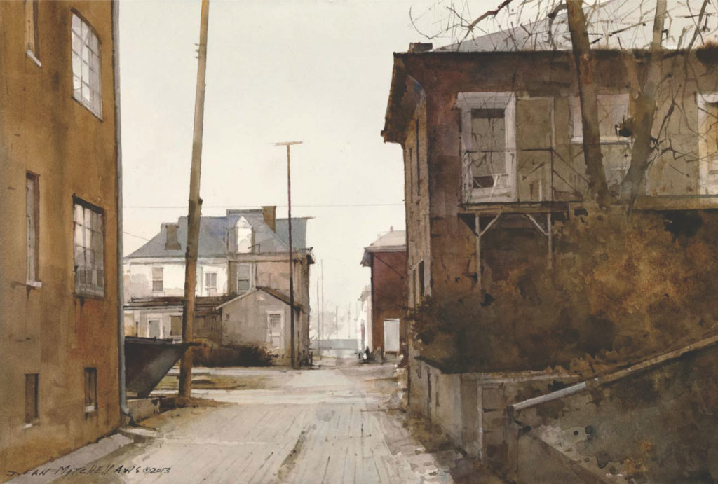 14. Damp Morning by Dean Mitchell | 25 watermedia paintings by 25 top artists