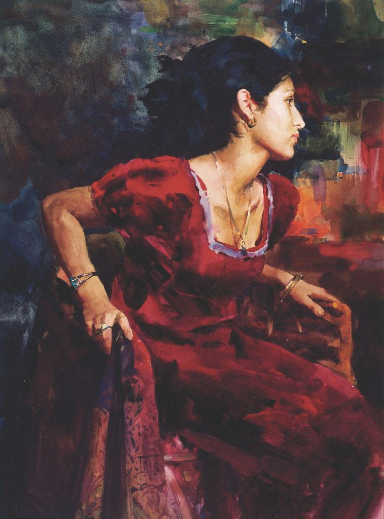 20. Michelle by Scott Burdick   25 watermedia paintings by 25 top artists