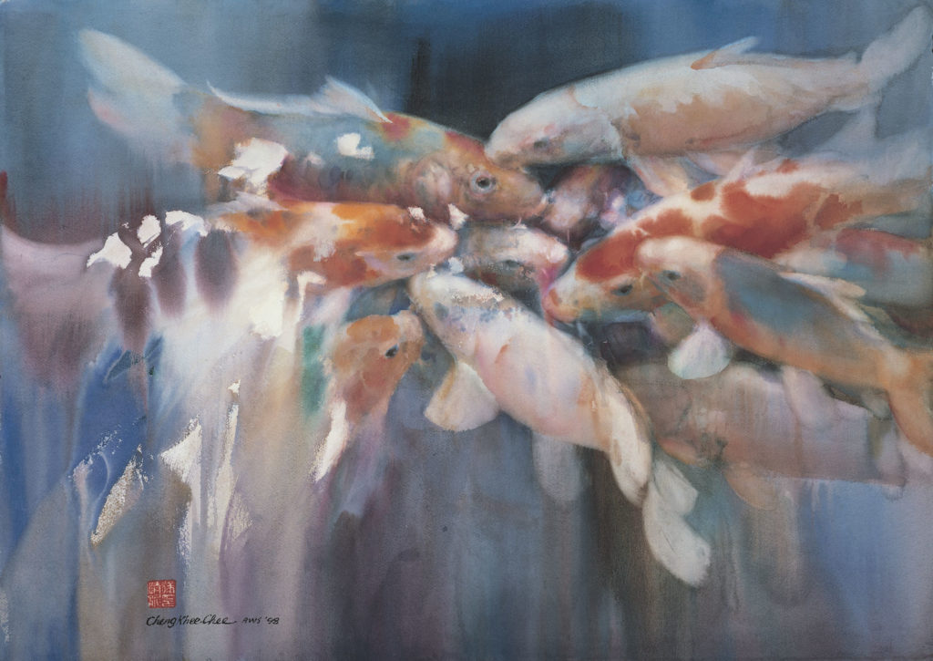 3. Koi 98, No. 1 by Cheng-Kee Chee | 25 watermedia paintings by 25 artists