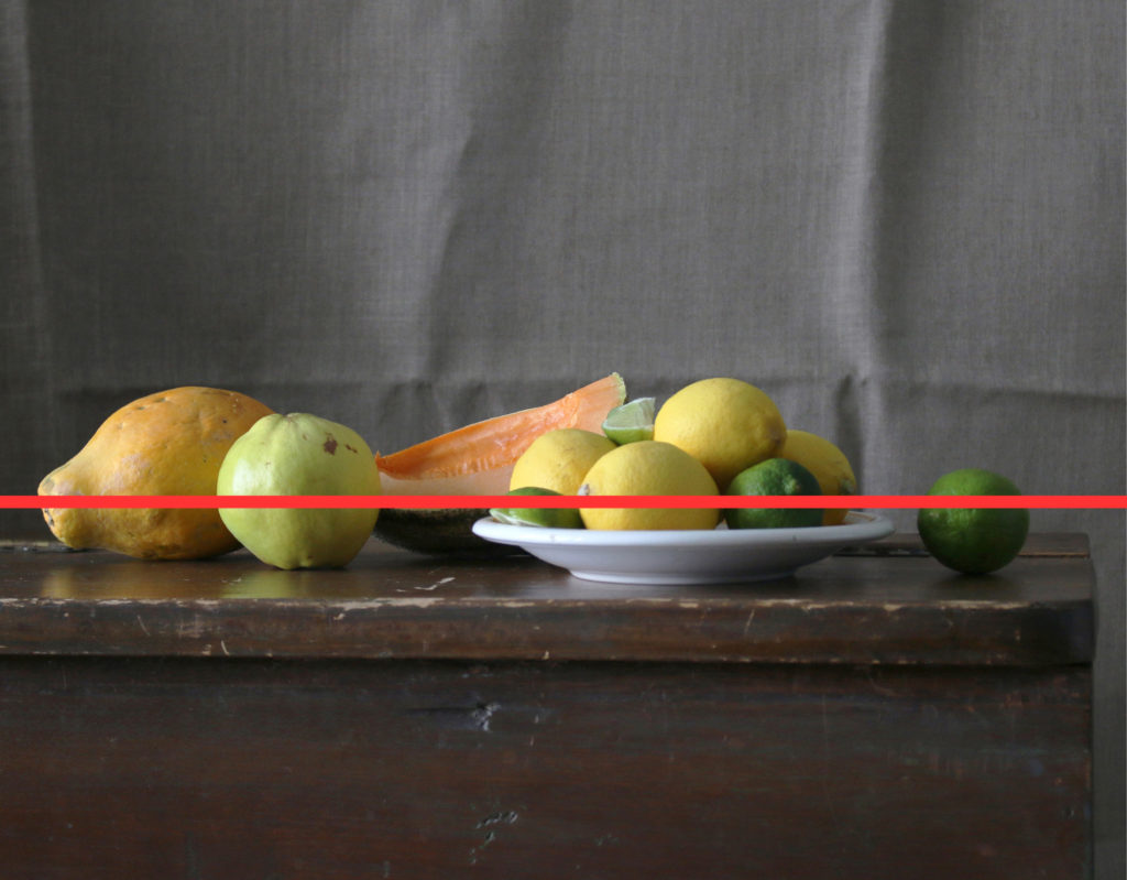 Low Eye Level Diagram -- How to Set Up a Still Life Composition   Artists Magazine