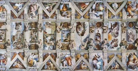 Sistine Ceiling by Michelangelo Buonarroti (Wikipedia)