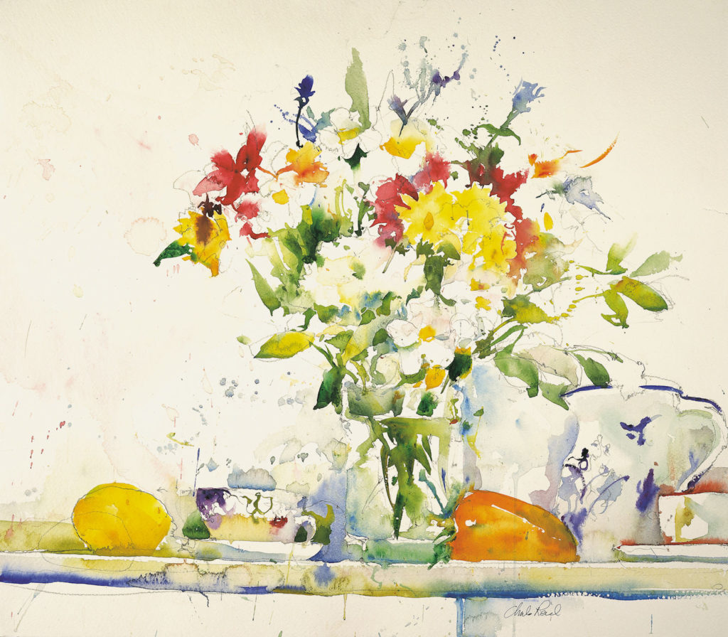 24. Urchfront Flowers by Charles Reid | 25 watermedia paintings by 25 top artists