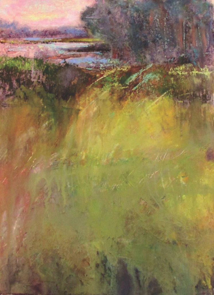 Salt Marsh by Eve Miller, example for How to Build Your Artist Resume | Pastel Journal and Artists Network