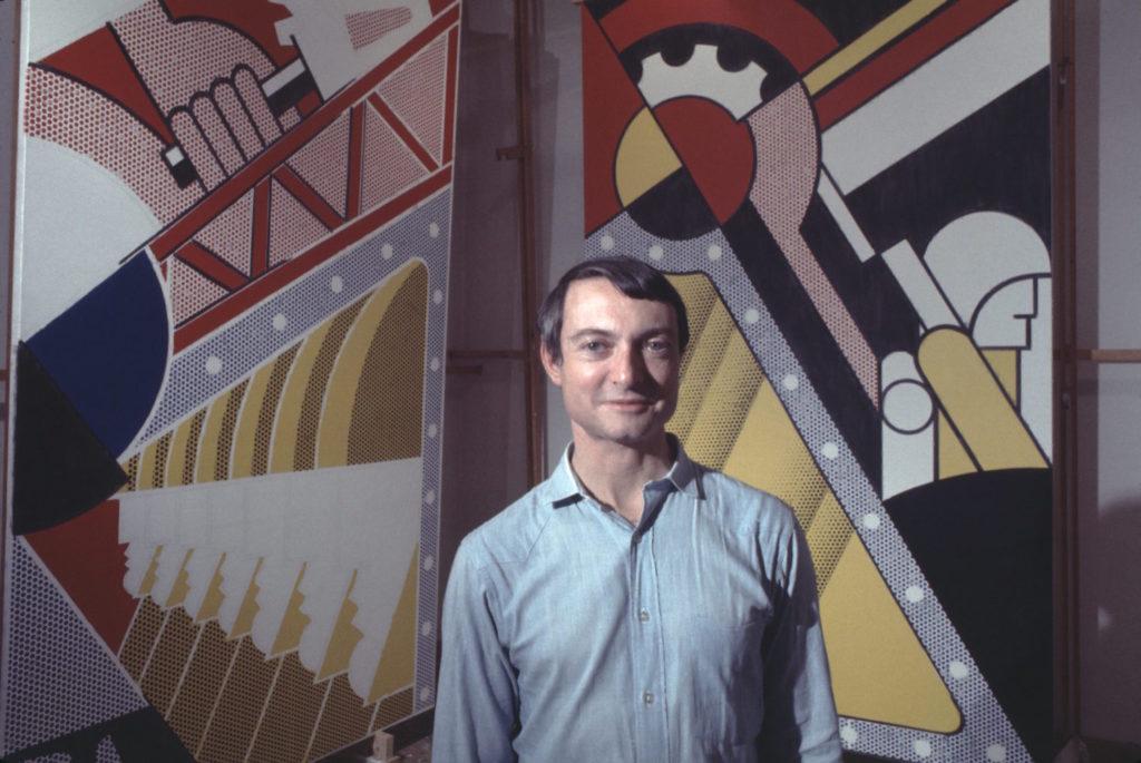 Pop artist Roy Lichtenstein in his New York studio in 1968. (Photo by Jack Mitchell/Getty Images)
