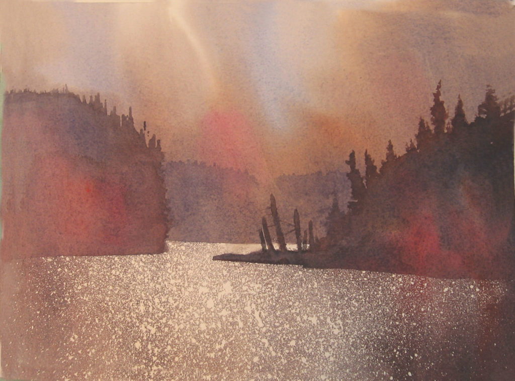 The Narrows by Gordon MacKenzie, watercolor