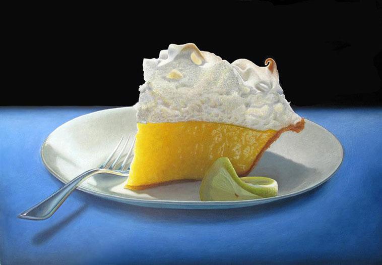 Lemon Meringue by Mary Ellen Johnson, oil on panel