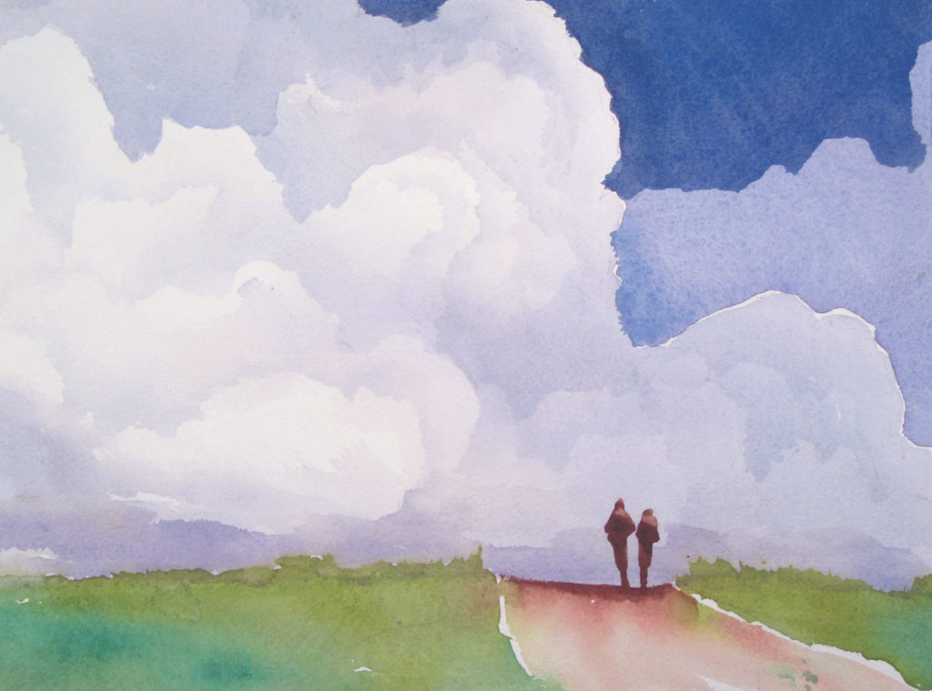 Alone Together by Gordon MacKenzie, watercolor