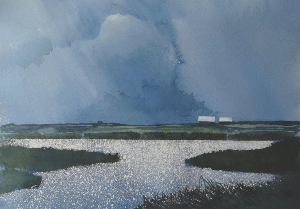 Prairie Slough by Gordon MacKenzie, watercolor