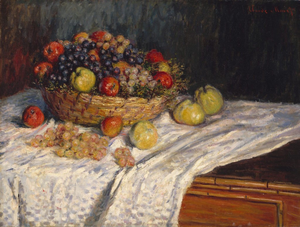 Apples and Grapes by Claude Monet, oil on canvas | Food-inspired Creative Projects