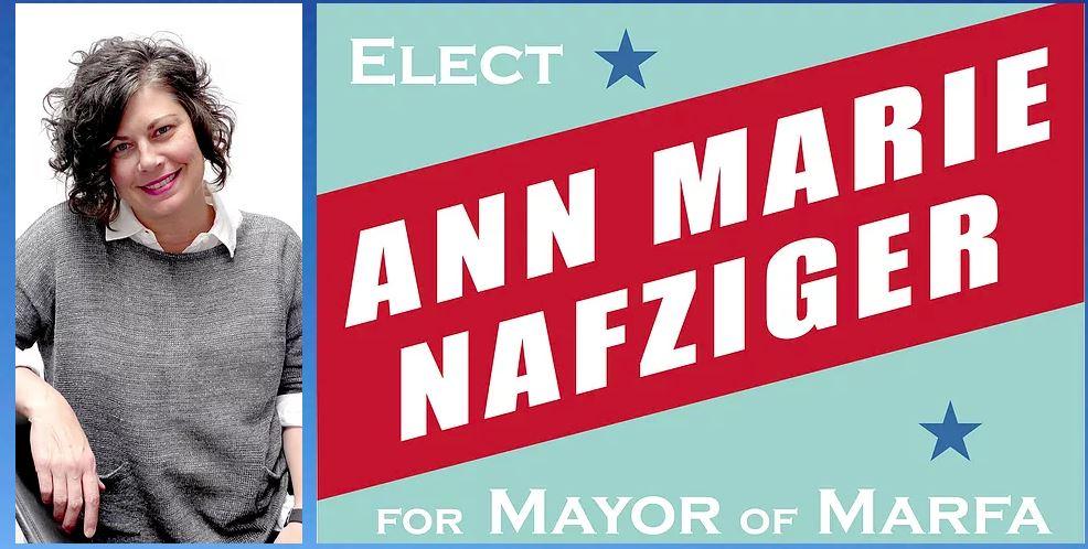 Ann Marie Nafziger, Marfa, Texas mayor