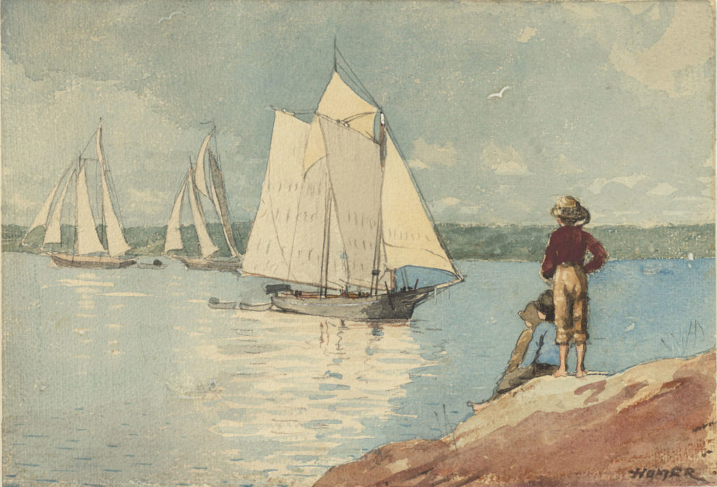 Clear Sailing by Winslow Homer, 1880, watercolor painting