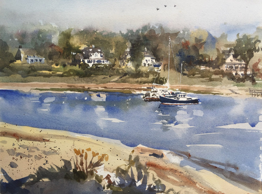 York River, Harbor Park by Stephen Harby, York Harbor, Maine; article by Artists Magazine