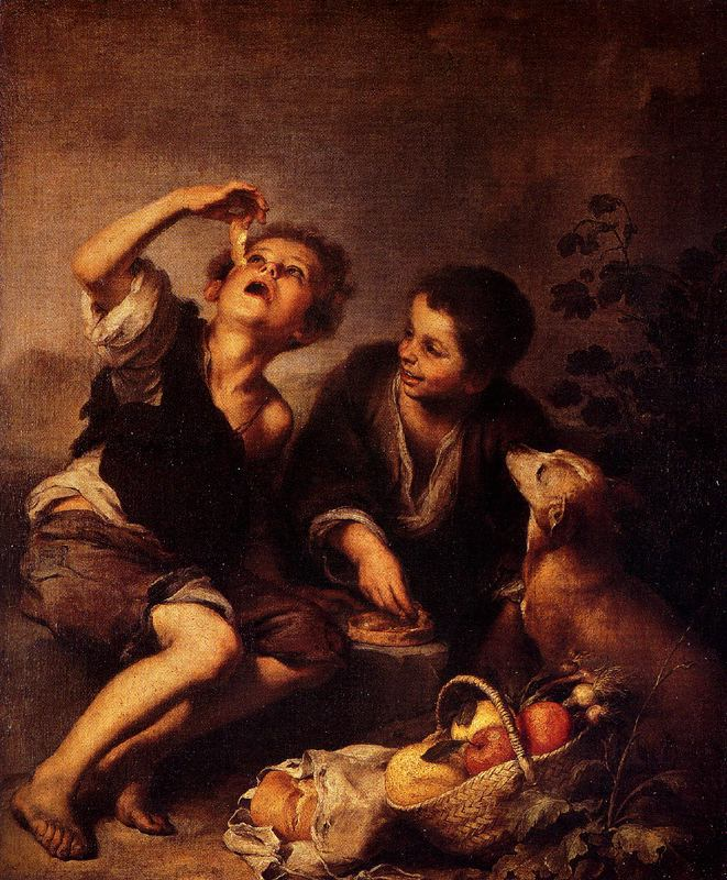 Children Eating a Pie by Bartolome Esteban Murillo, 1670-75