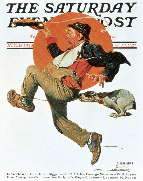 Hobo Stealing Pie by Norman Rockwell, 1928