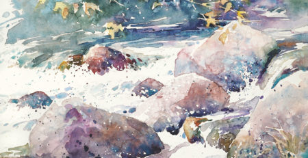 How to Paint Rocks in Watercolor -- Watercolor Artist and Artists Network