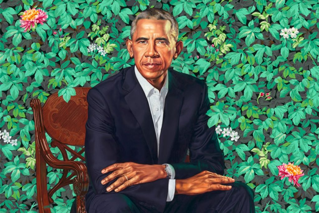 President Barack Obama by Kehinde Wiley (Image courtesy of the National Portrait of Gallery)