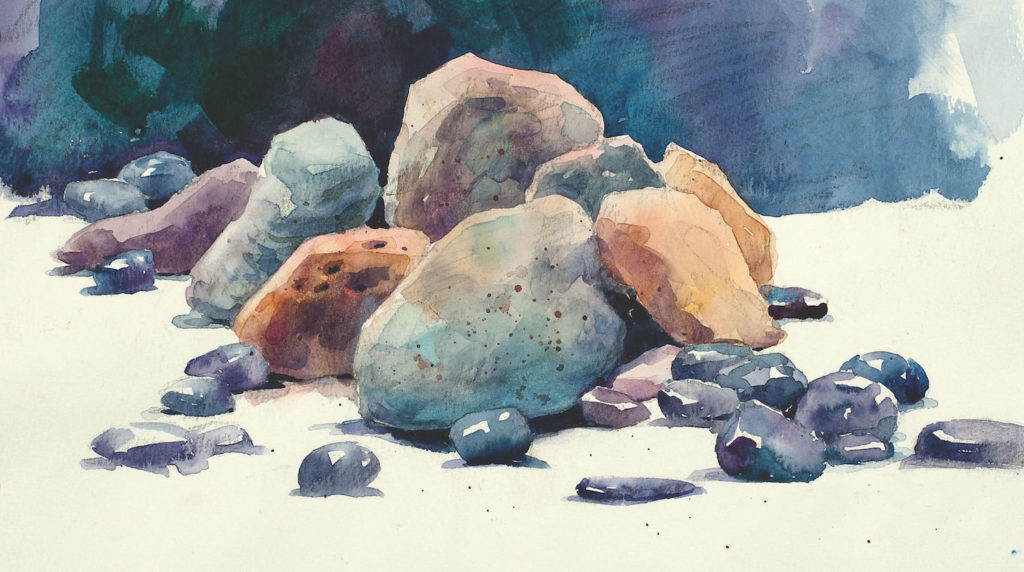 How to Paint Rocks in Watercolor | Watercolor Artist and Artists Network