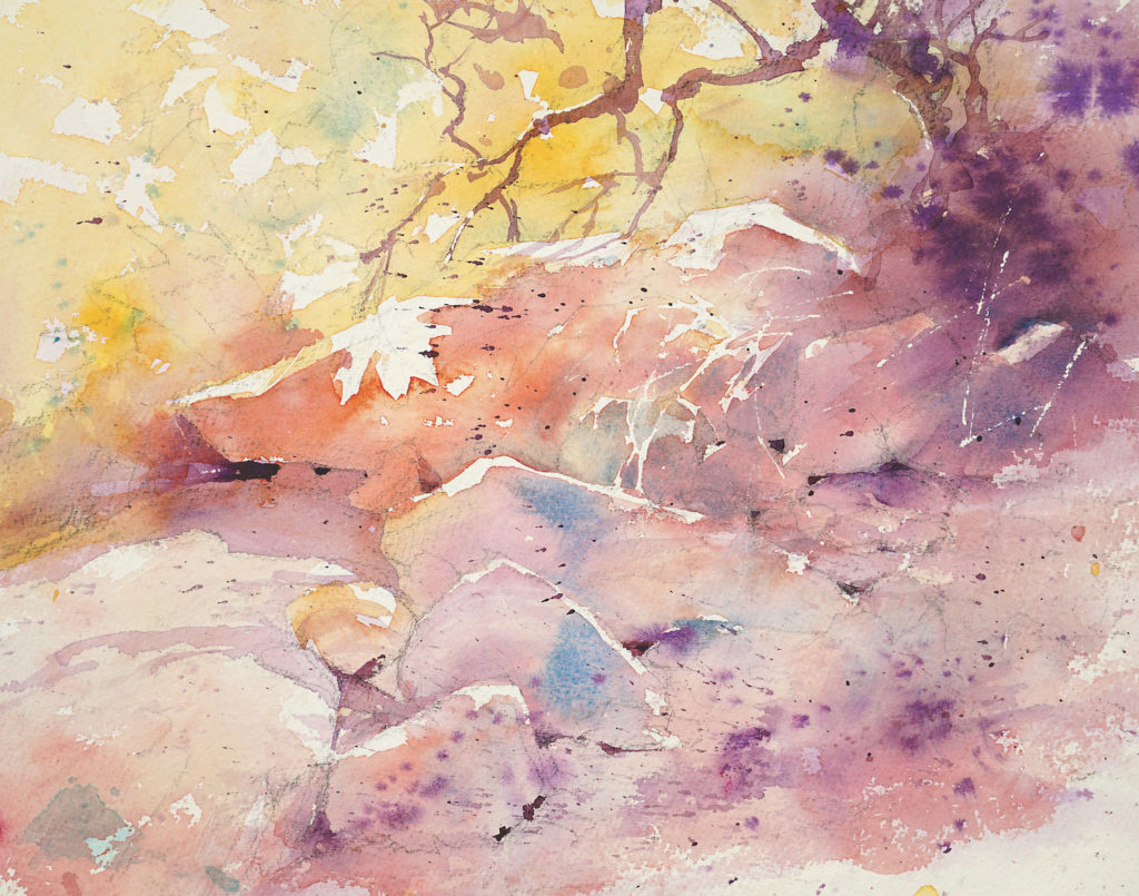 Julie Gilbert Pollard | How to Paint Rocks in Watercolor