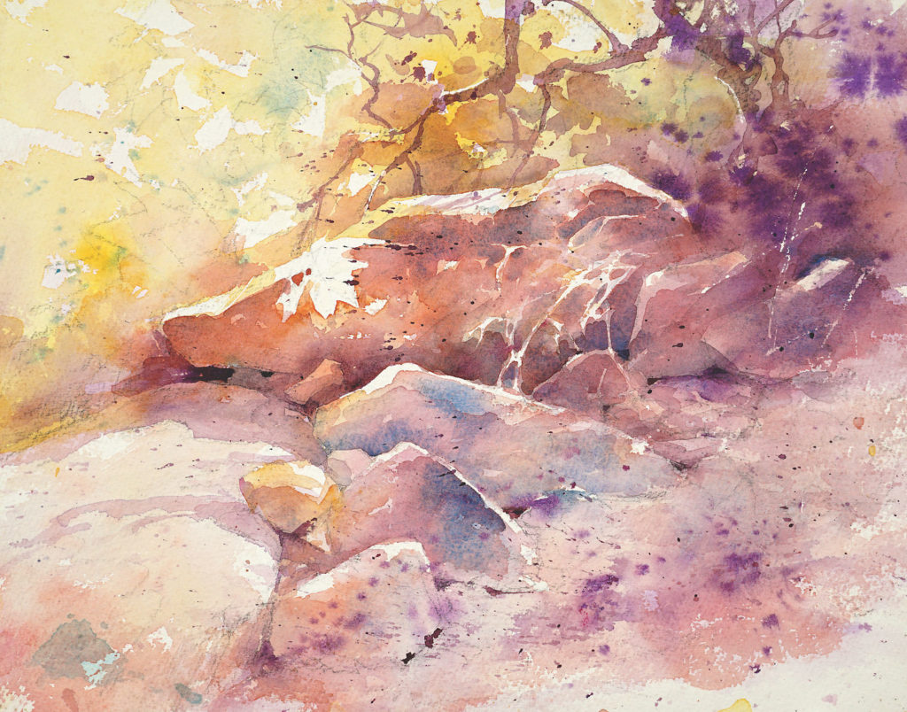 Painting Sedona Reds by Julie Gilbert Pollard | How to Paint Rocks in Watercolor