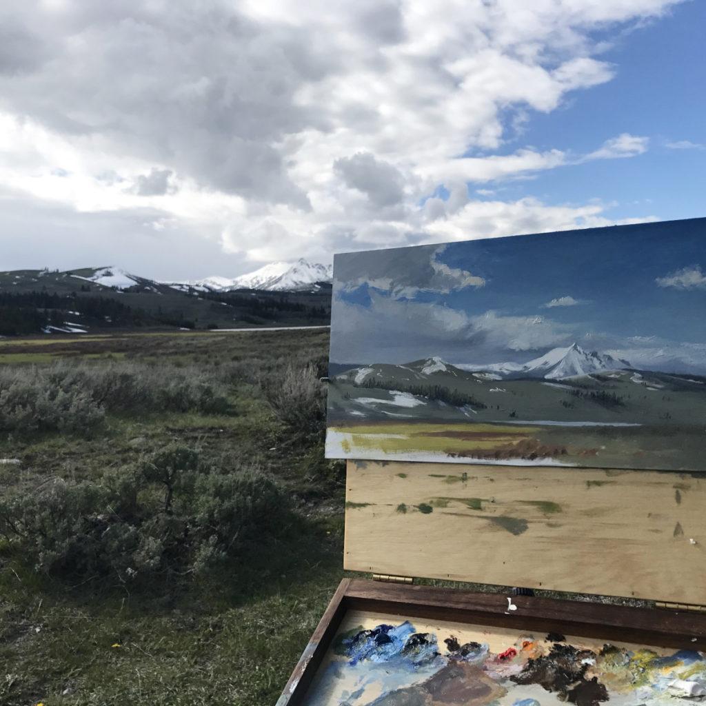 Emilie Lee plein air painting