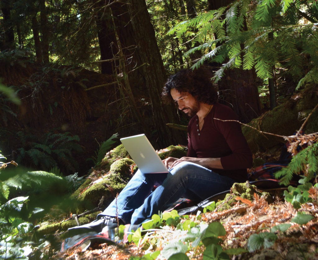 Daniel Eduvijes Carrera, media artist at the Djerassi Resident Artist Program; photo by Paula Bullwinkel | Why Artist Retreats Are Important | Artists Network