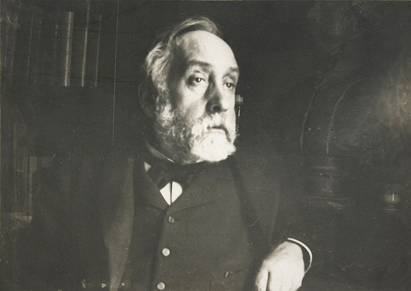 Self-Portrait of Edgar Degas, photograph, ca. 1895