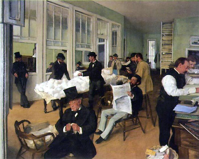 A Cotton Office in New Orleans by Edgar Degas, 1873