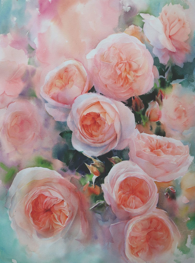Watercolor rose demo by Adisorn Pornsirikarn