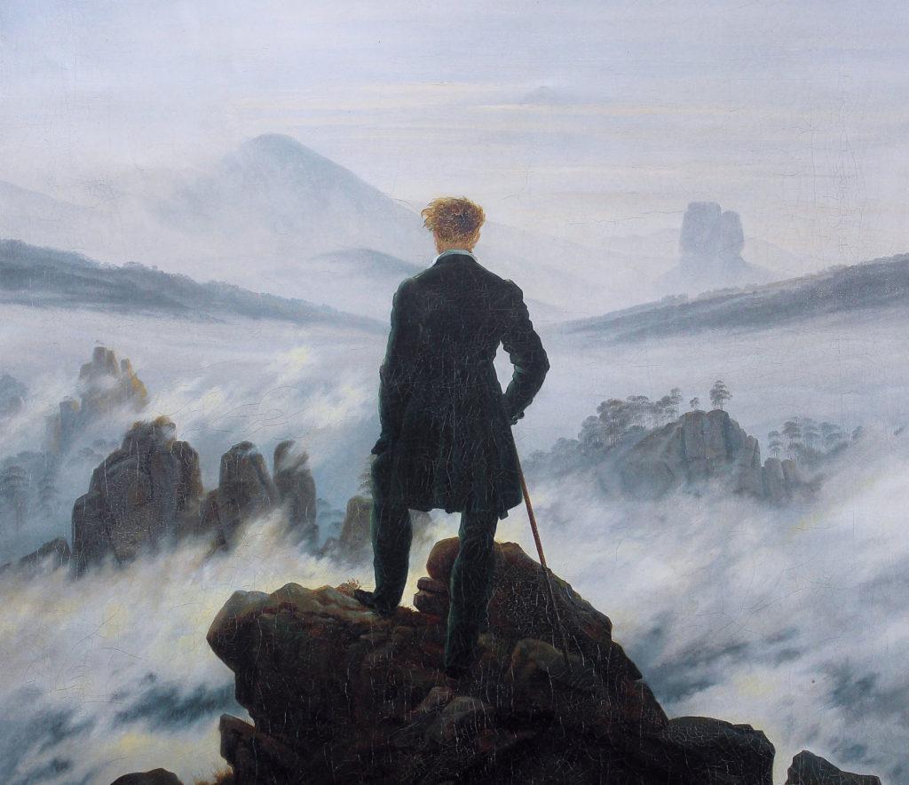 Wanderer above the Sea of Fog by Caspar David Friedrich, 1818