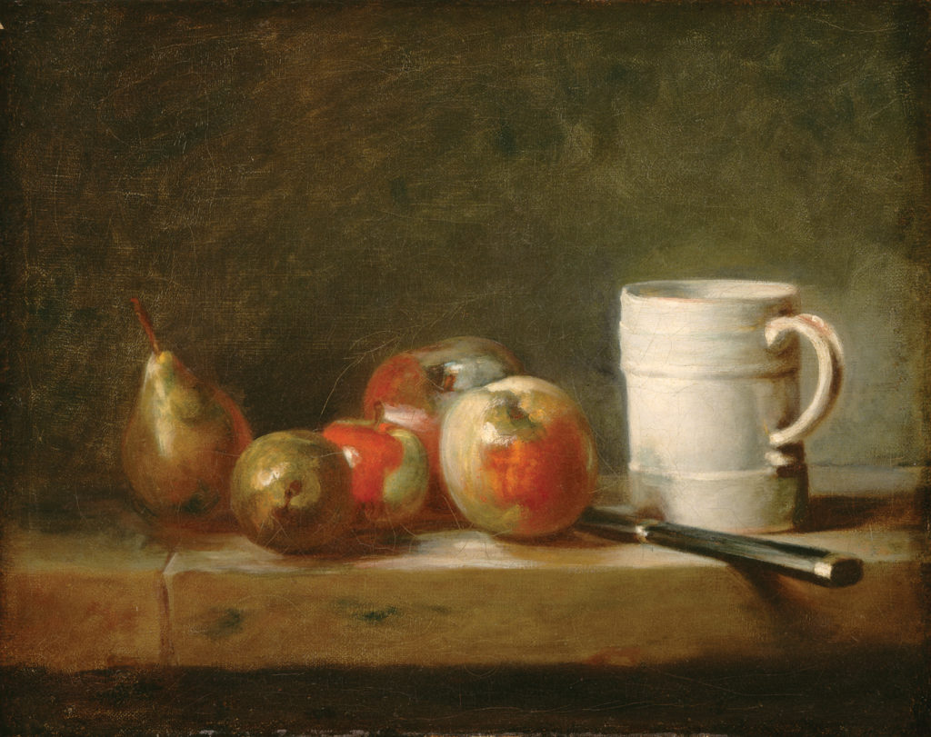 Still Life With a White Mug by Jean Siméon Chardin | Exploring Perspective in Still Lifes, article by Kenneth J. Procter, Artists Network